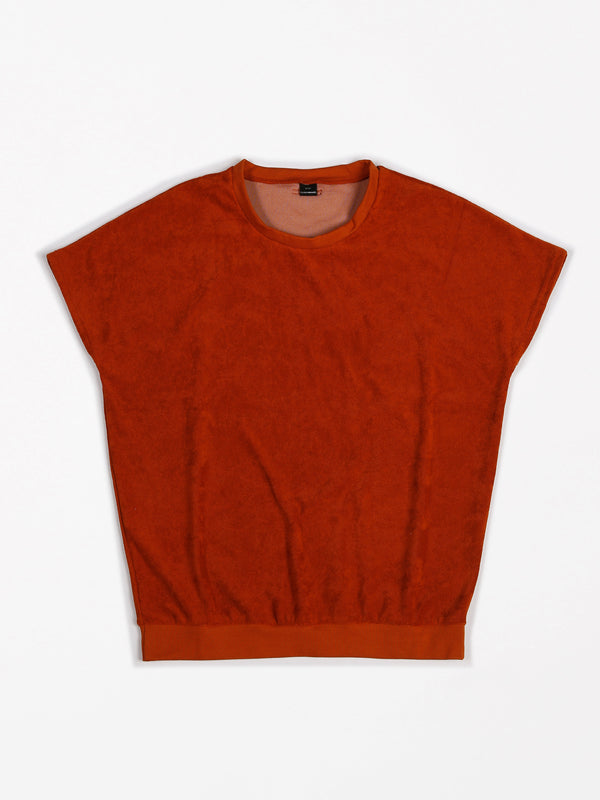 Shortsleeve Terry Sweater Brick