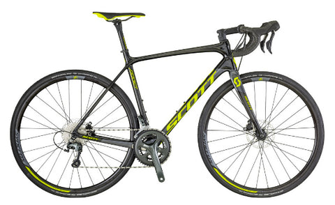 Scott Addict Disc 30 road bike black/neon green