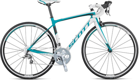 Scott Contessa Solace womens road bike white/turquoise