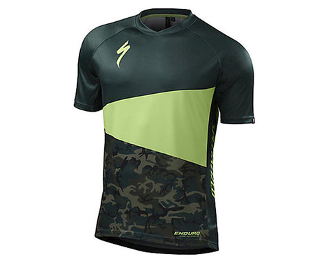 Specialized mens enduro comp jersey monster green/camo