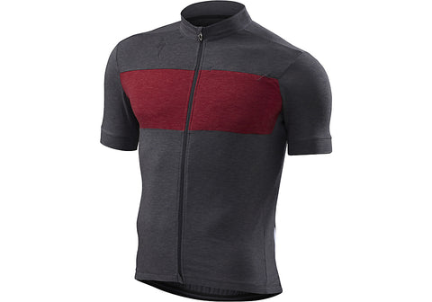 Specialized mens RBX merino jersey carbon/heather