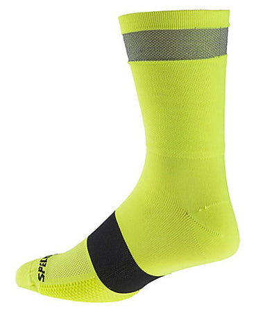Specialized womens Reflect Tall Sock neon yellow