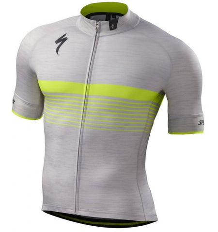Specialized mens SL Expert Jersey gray/black/yellow