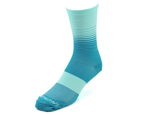 Specialized womens SL Tall Sock turquoise fade