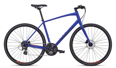 Specialized Sirrus Alloy Disc hybrid/comfort/fitness bike Acid Blue/Rocket Red/Black Reflective