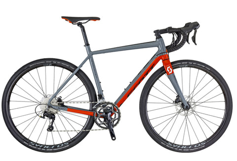 Scott Speedster Gravel 10 disc road bike grey/red