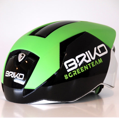 Briko Gass Bike Helmet, Green Team