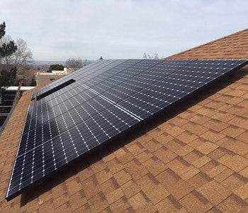 Pitched Shingle Roof Solar Install