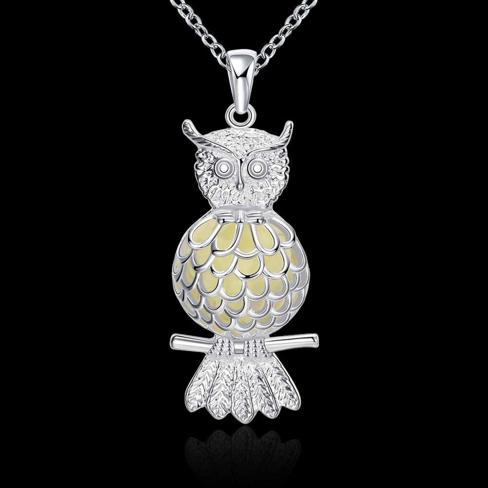 rhodium crystal pendant clear hi rickis owl res necklace