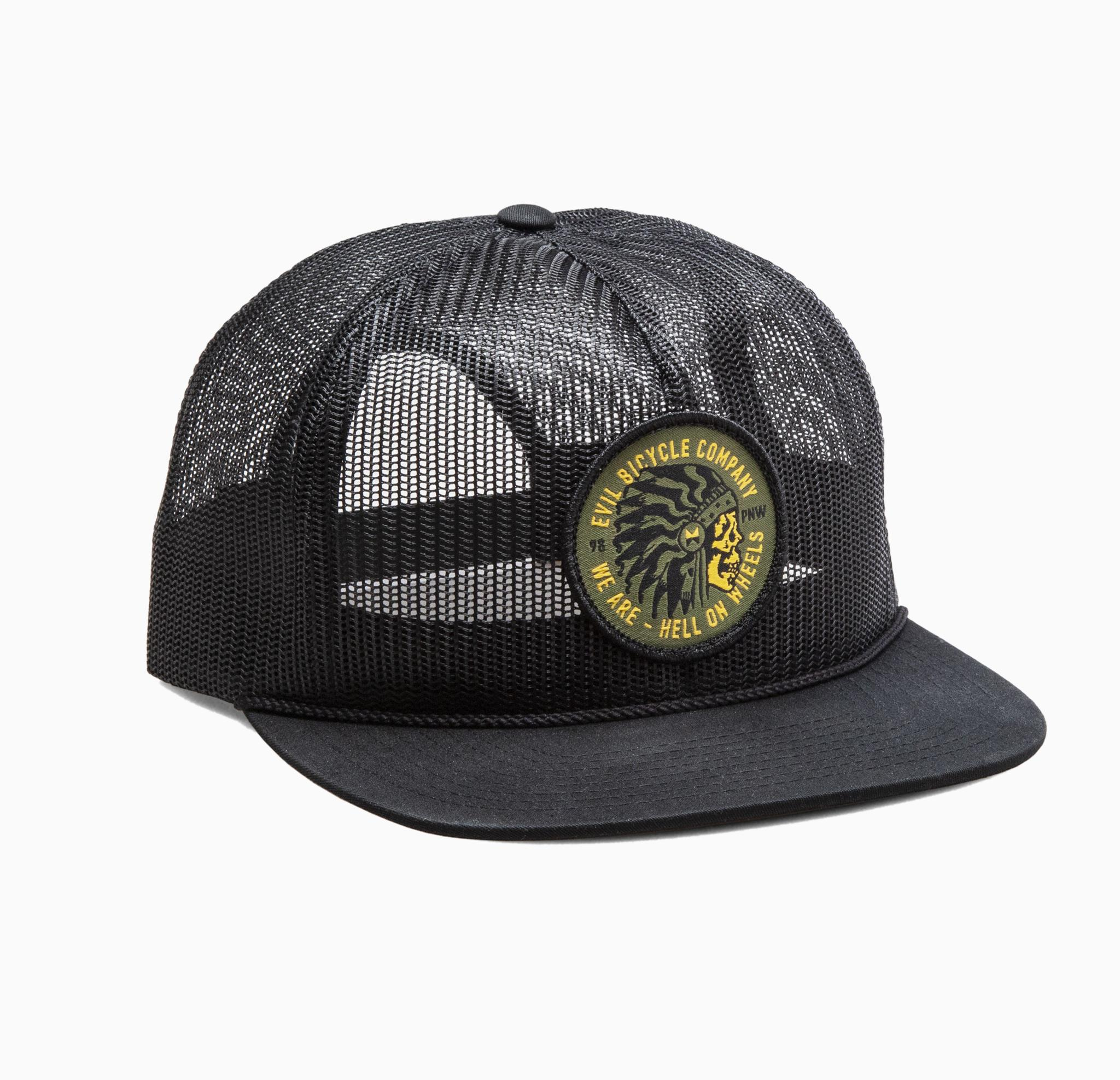 Hell On Wheels Mesh Trucker Snapback Cap