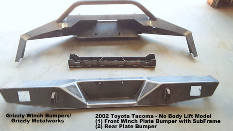 TOYOTA TACOMA 2002 FRONT WINCH BUMPER AND REAR PLATE BUMPER