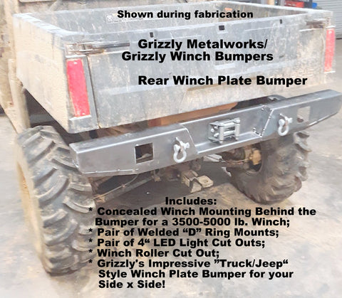 Polaris ranger 500 560 Midsize Rear Plate Bumper