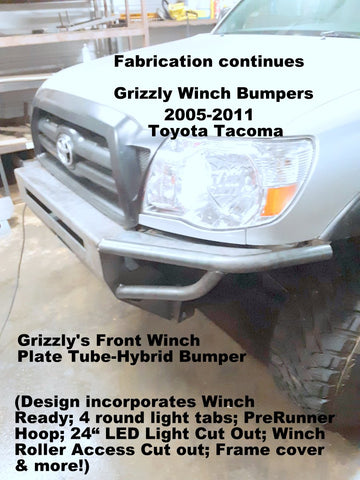 2005-2011 Toyota Tacoma Winch Plate - Tube Hybrid Bumper