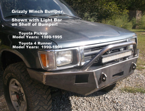 1990-1991 Toyota 4 Runner Grizzly winch Bumpers