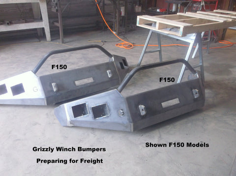 f150 front winch bumper  grizzly winch bumpers