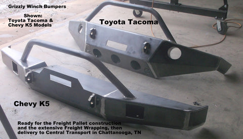 toyota tacoma winch bumper grizzly winch bumpers