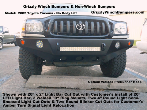 toyota tacoma winch plate bumper with LED light bar