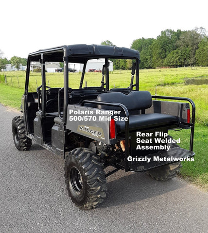 Polaris Ranger 500/570 Midsize Front Winch Plate Bumper Brush Guard with  Skid Plate (Grizzly's Truck Style!) $350