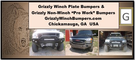 Grizzly Winch Bumpers and Grizzly Non-Winch Bumpers Custom