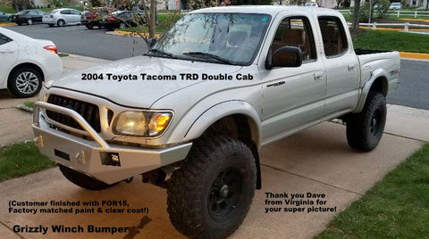 1995-2004 Toyota Tacoma Custom Front Winch Plate Bumper (Non-Winch Work  Model Available)