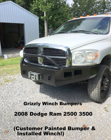 2008 dodge ram 2500 3500 winch bumper grizzly winch bumpers