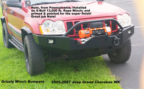 2005-2007 Jeep Grand Cherokee WK Custom Front Winch Plate Bumper (Non-Winch Work Model Available)
