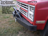 Chevy K5 K10 front winch plate bumper   grizzlymetalworks.com
