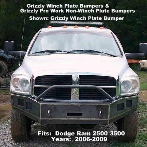 2006-2009 Dodge Ram 2500 3500 Custom Front Winch Plate Bumper & Custom Non-Winch Bumper