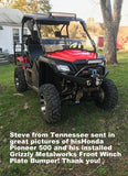 Honda Pioneer 500 Front Winch Plate Bumper Brush Guard