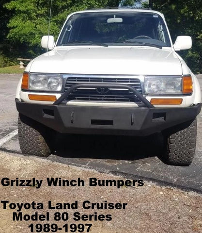 1989-1997 Toyota Land Cruiser Model 80 Series Custom Front Winch Plate Bumper & Custom Non-Winch Bumper