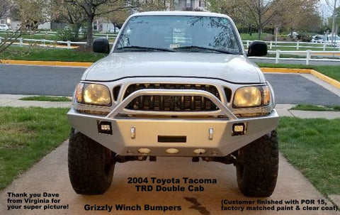 1995-2004 Toyota Tacoma Custom Front Winch Plate Bumper $875; Rear Plate Bumper $695 Raw Metal