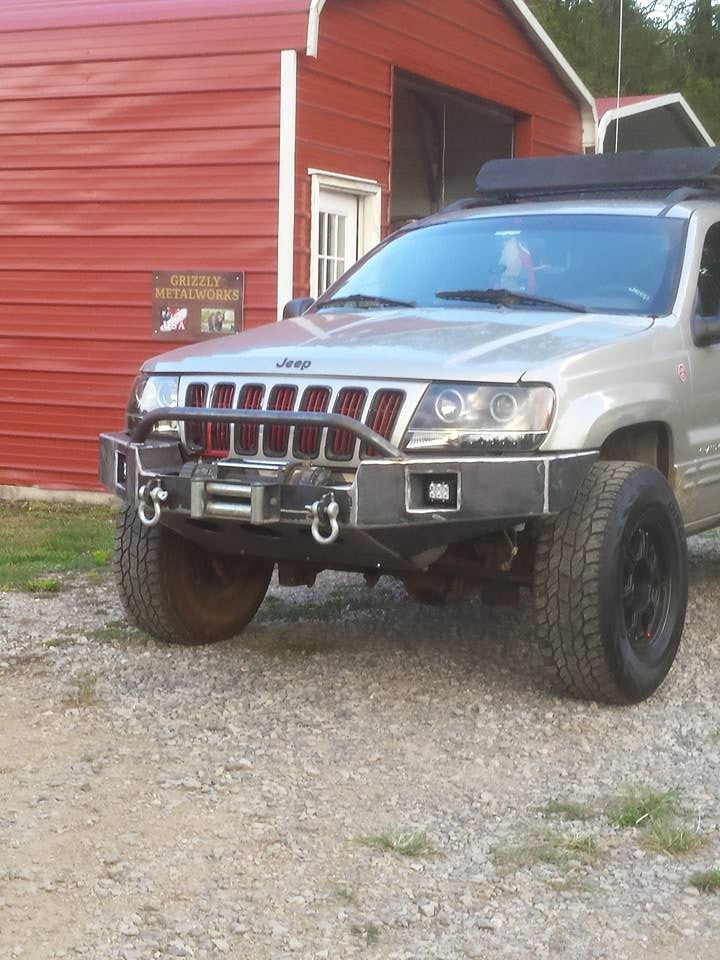 bumper jeep wj winch 2004 cherokee grand custom bumpers 1999 plate skid non work grizzly rear truck tacoma metal parts