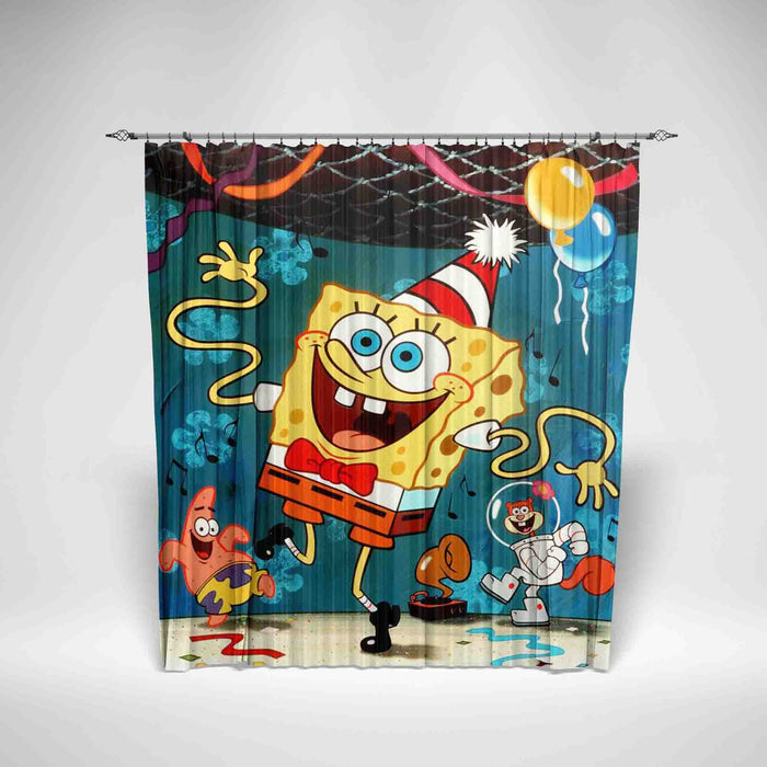 SPONGEBOB SQUAREPANTS - KIDS SHOWER CURTAIN
