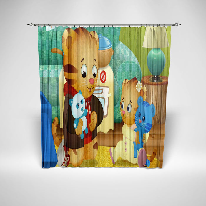 long shower curtain