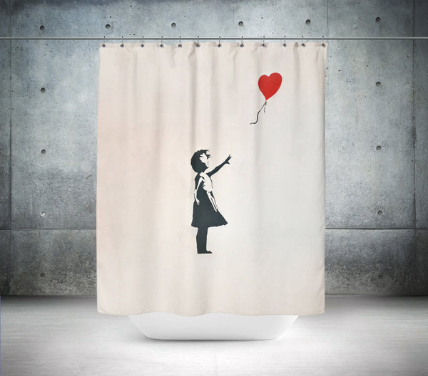 Banksy Balloon Girl Shower Curtain