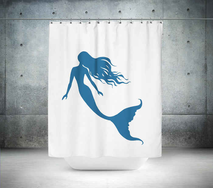 Beautiful Blue Mermaid Shower Curtain