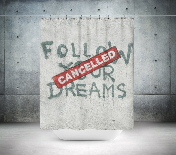 Banksy Cancelled Shower Curtain