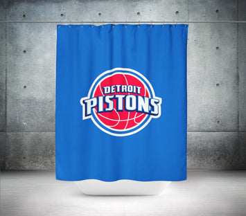 Detroit Pistons NBA Shower Curtain