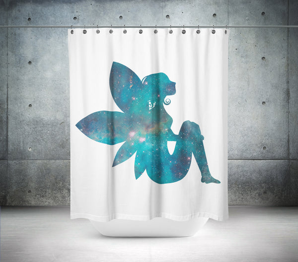 The Galactical  Fairy Shower Curtain