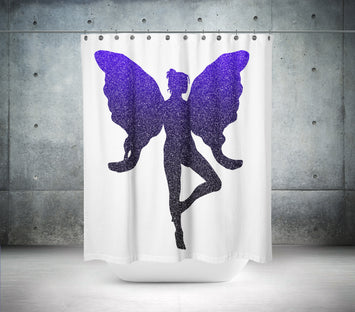 The Glitter Fairy Shower Curtain