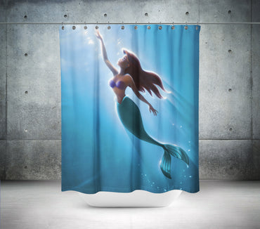 Rising Mermaid Shower Curtain