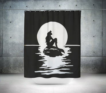 Little Mermaid Silhouette Shower Curtain