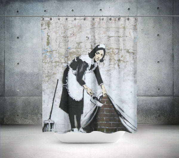 Banksy Maid In London Shower Curtain
