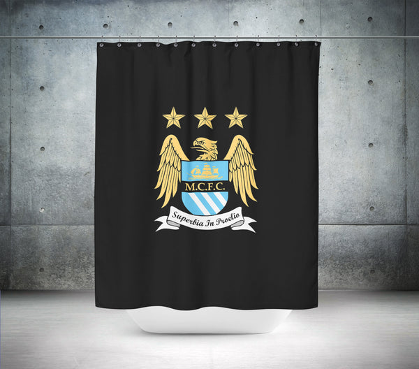 Manchester City Football Club Shower Curtain