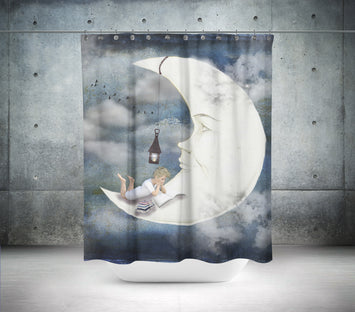 Moon Fantasy Shower Curtain