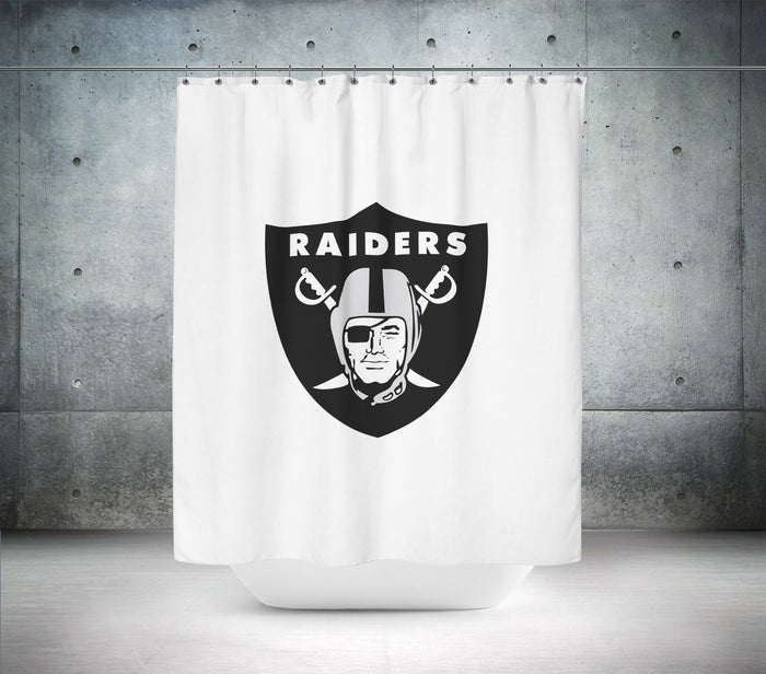Oakland Raiders NFL Shower Curtain