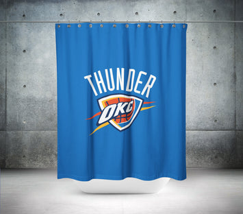Oklahoma City Thunder NBA Shower Curtain