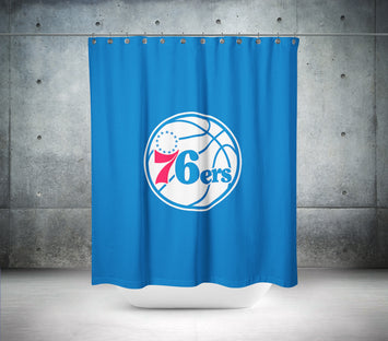 Philadelphia 76ers NBA Shower Curtain