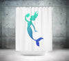 Reading Mermaid Shower Curtain