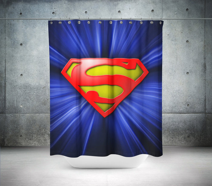 Superman Logo Shower Curtain